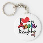 I Love My Aspie Daughter Basic Round Button Key Ring