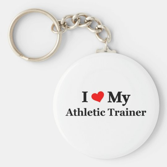 I love my Athletic Trainer Basic Round Button Key Ring