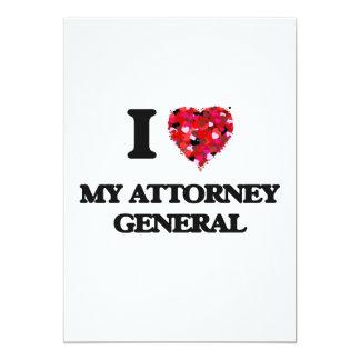 I Love My Attorney General 13 Cm X 18 Cm Invitation Card