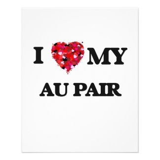 "I love my Au Pair 4.5"" X 5.6"" Flyer"