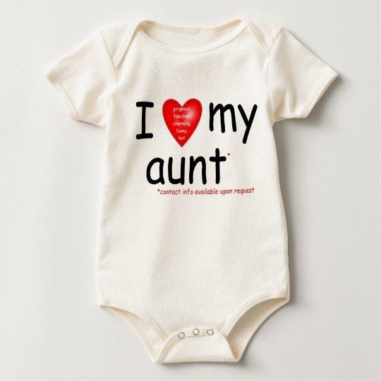 I love my aunt baby bodysuit