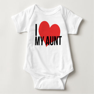 I Love My Aunt Baby Shirt