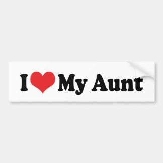 I Love My Aunt Bumper Sticker