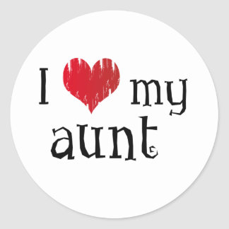 I love my aunt stickers