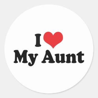 I Love My Aunt Round Sticker