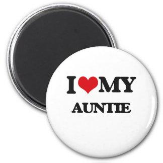 I love my Auntie 6 Cm Round Magnet