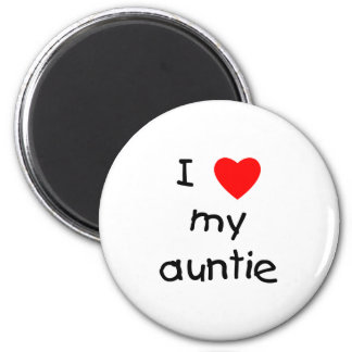 I Love My Auntie Magnets