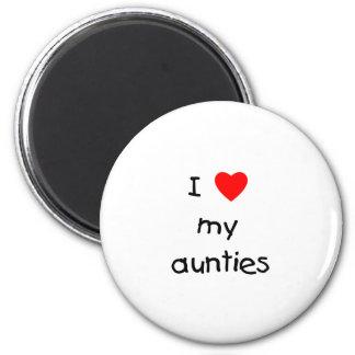I Love My Aunties 6 Cm Round Magnet