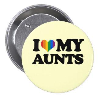 I Love My Aunts 7.5 Cm Round Badge