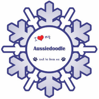 I Love My Aussiedoodle (Male Dog) Photo Cutouts