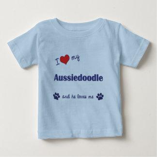 I Love My Aussiedoodle (Male Dog) Tee Shirts