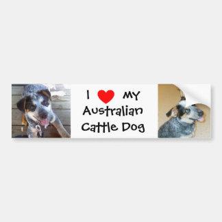 I love my Australian Cattle Dog bumper sticker Car Bumper Sticker