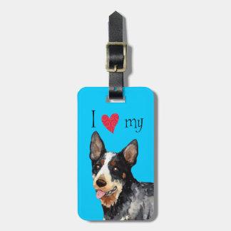 I Love my Australian Cattle Dog Travel Bag Tags