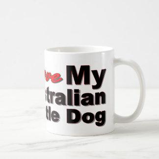 I Love My Australian Cattle Dog Basic White Mug