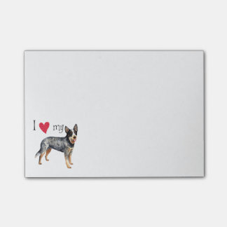 I Love my Australian Cattle Dog Post-it® Notes
