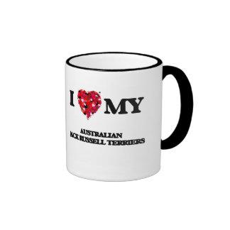 I love my Australian Jack Russell Terriers Ringer Mug
