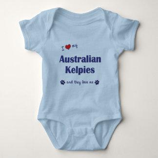 I Love My Australian Kelpies (Multiple Dogs) Baby Bodysuit