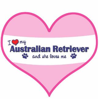 I Love My Australian Retriever (Female Dog) Photo Sculpture Decoration