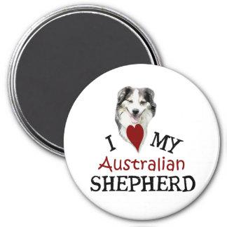 I love my Australian Shepherd 7.5 Cm Round Magnet
