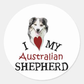 I love my Australian Shepherd Classic Round Sticker