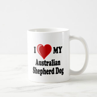 I Love My Australian Shepherd Dog Coffee Mug