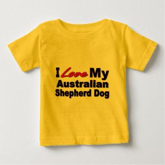 I Love My Australian Shepherd Dog Merchandise Baby T-Shirt