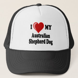 I Love My Australian Shepherd Dog Trucker Hat