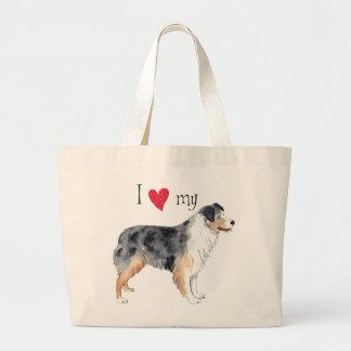 I Love my Australian Shepherd Large Tote Bag