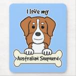 I Love My Australian Shepherd Mouse Mat