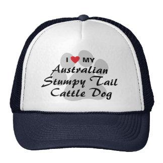I Love My Australian Stumpy Tail Cattle Dog Cap