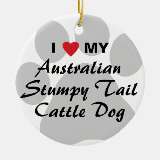 I Love My Australian Stumpy Tail Cattle Dog Christmas Ornament