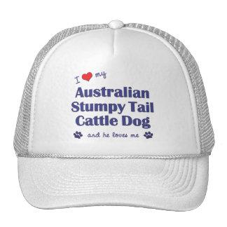 I Love My Australian Stumpy Tail Cattle Dog (Male) Trucker Hats
