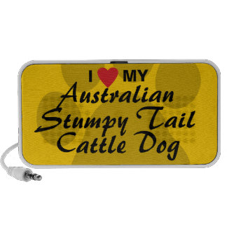 I Love My Australian Stumpy Tail Cattle Dog Notebook Speakers
