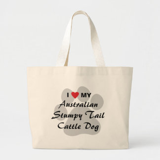 I Love My Australian Stumpy Tail Cattle Dog Bags