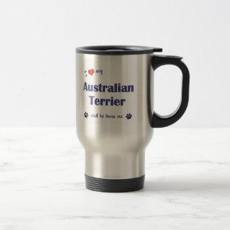 I Love My Australian Terrier (Male Dog) Stainless Steel Travel Mug