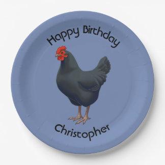 I Love My Australorp Chicken Paper Plate