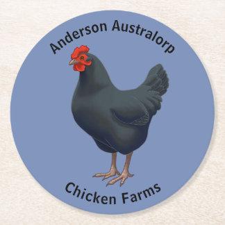 I Love My Australorp Chicken Round Paper Coaster