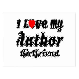 I love my Author girlfriend Postcards