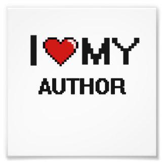 I love my Author Art Photo