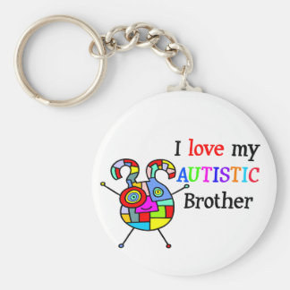 I Love My Autistic Brother Key Ring