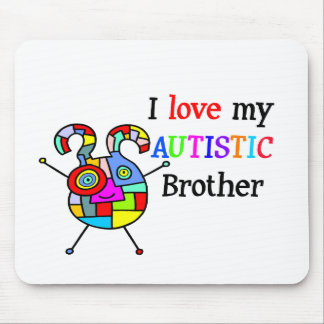 I Love My Autistic Brother Mousepads