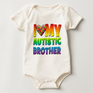 I Love My Autistic Brother.png Baby Bodysuit