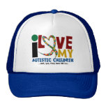 I Love My Autistic Children 2 AUTISM AWARENESS Trucker Hat