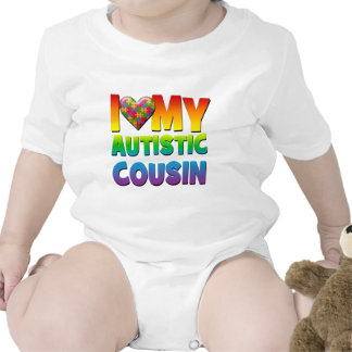 I Love My Autistic Cousin.png Rompers