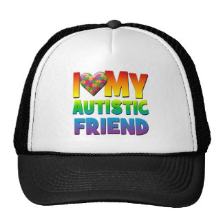 I Love My Autistic Friend.png Mesh Hats