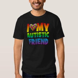 I Love My Autistic Friend.png Tshirts