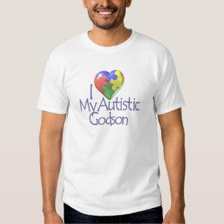 I Love My Autistic Godson Tee Shirts
