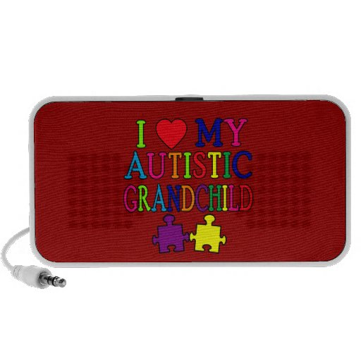 I Love My Autistic Grandchild Mini Speakers