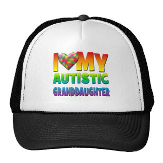 I Love My Autistic Granddaughter png Trucker Hat