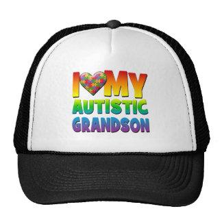I Love My Autistic Grandson.png Hat